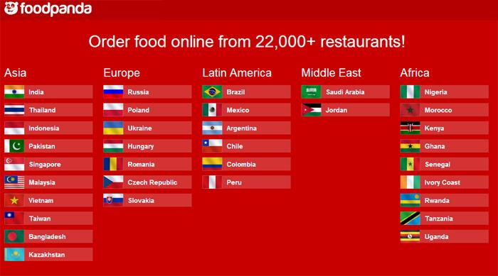 Order food online at Foodpanda