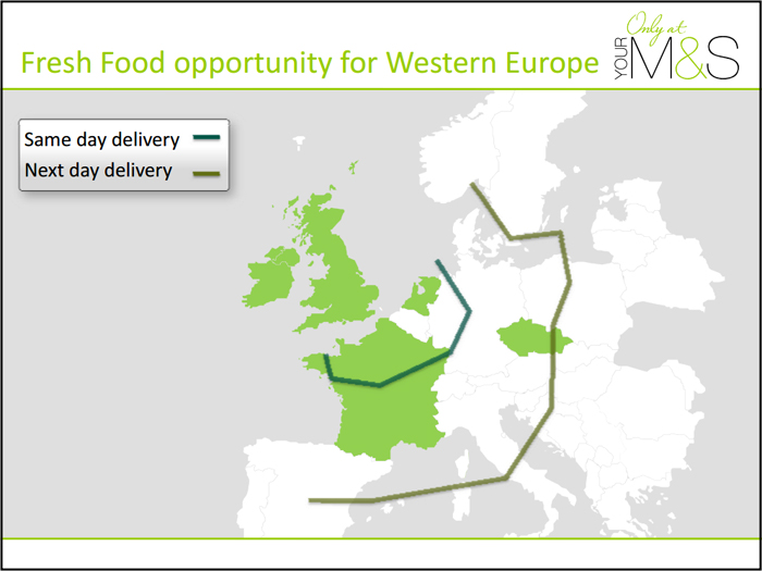 Fresh food same day delivery Marks & Spencer