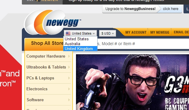Newegg now available in the United Kingdom (UK)