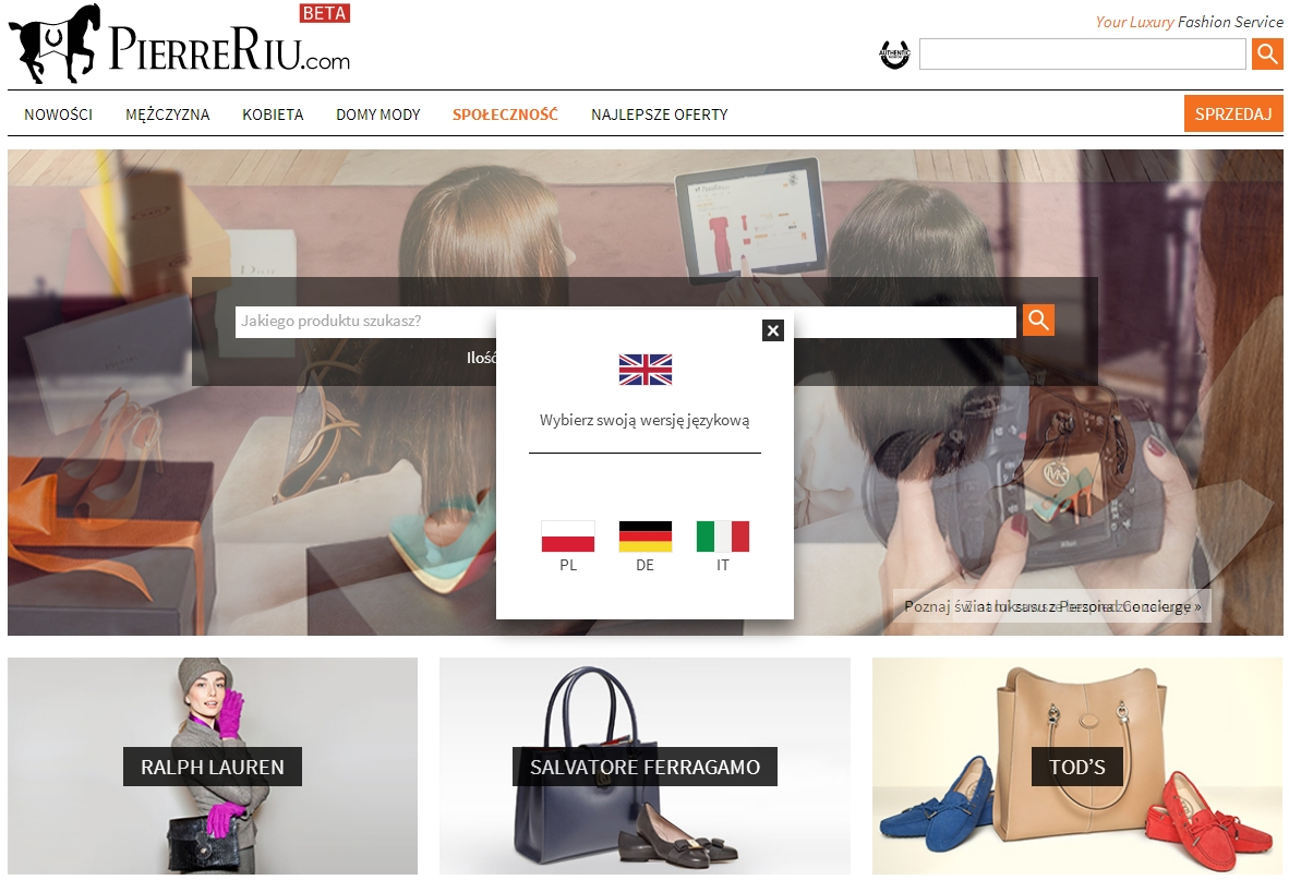 Luxury fashion online store PierreRiu.com