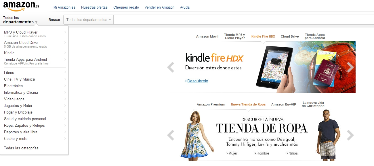 Amazon.es clothing store