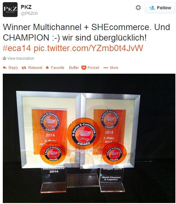 Award winner PKZ