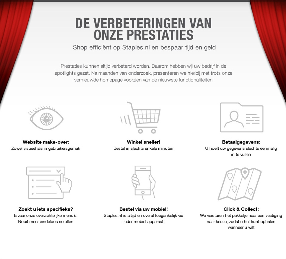 The Dutch website of Staples