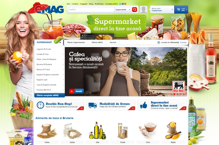 Online supermarket eMAG from Romania