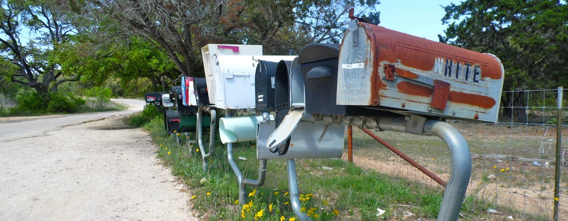 several mail boxes