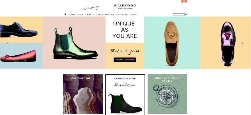 Luxury shoe store Scarosso