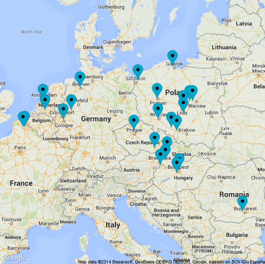 Ecommerce warehouses in Europe