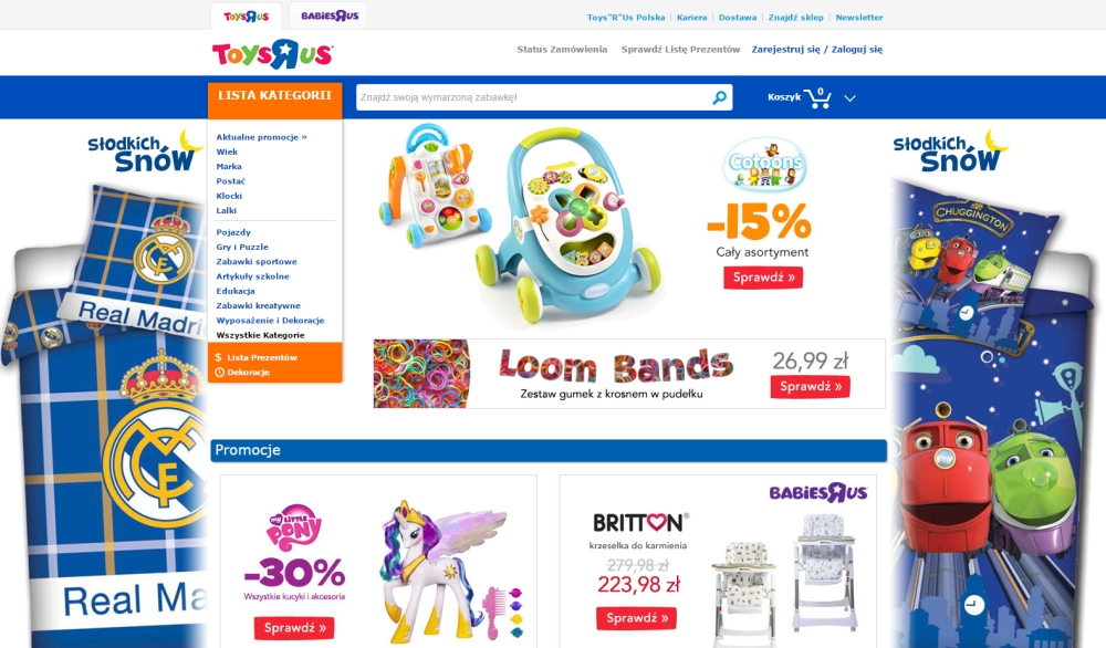 "Ecommerce site or online store from Toys""R""Us Poland"