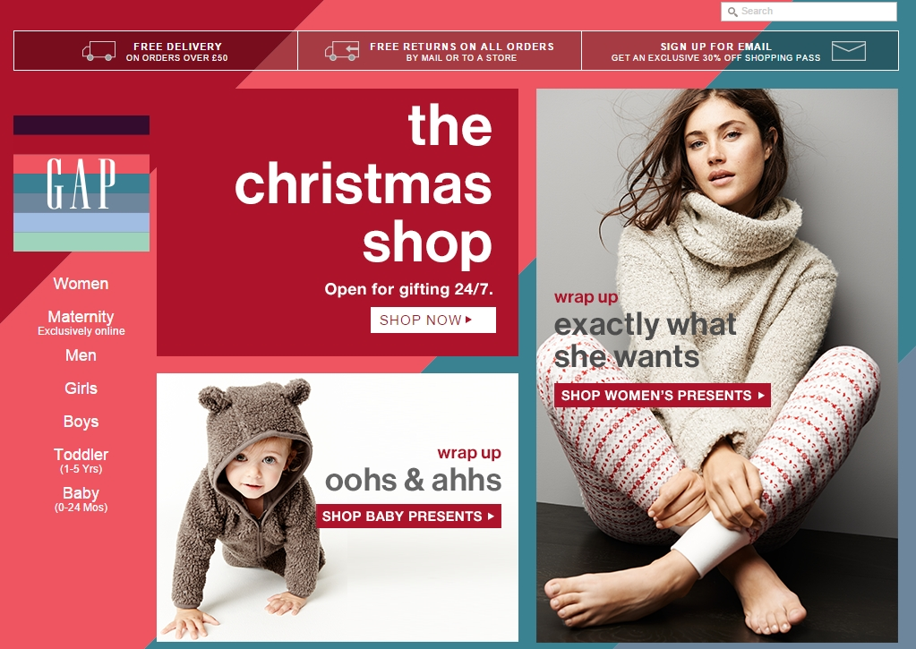 Website of Gap