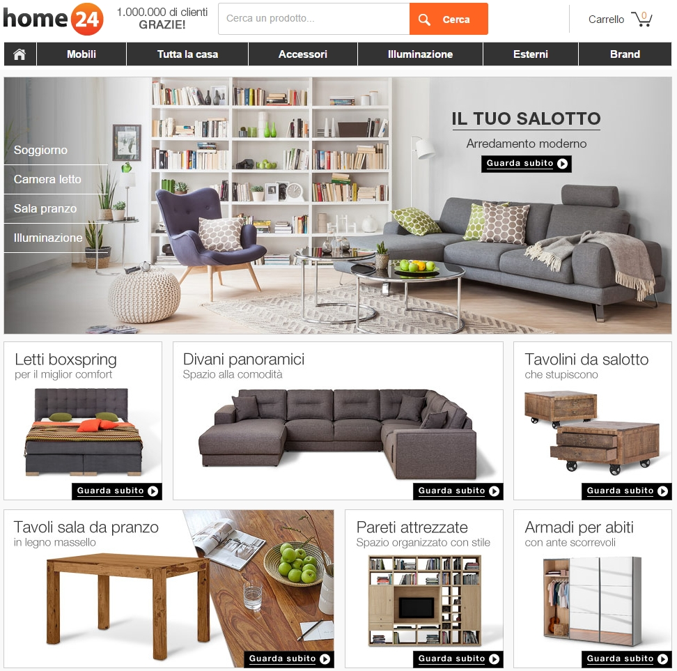 Funiture Stores: Online Furniture Store Home24 Expands To Italy