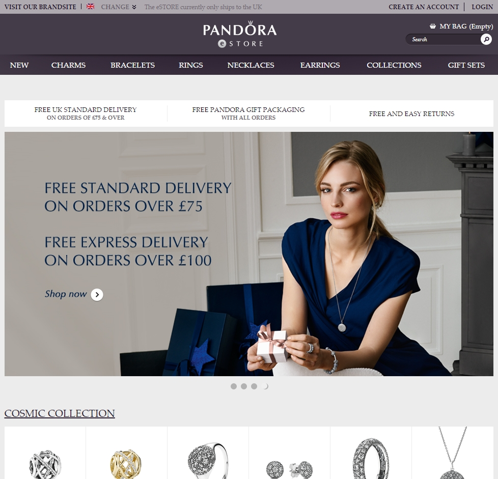fe3d05f72d7c More male customers for Pandora after opening online stores