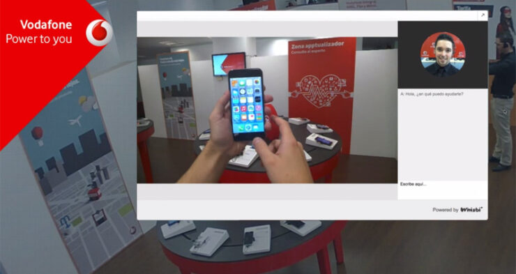 Whisbi lets you show products online through real-time video