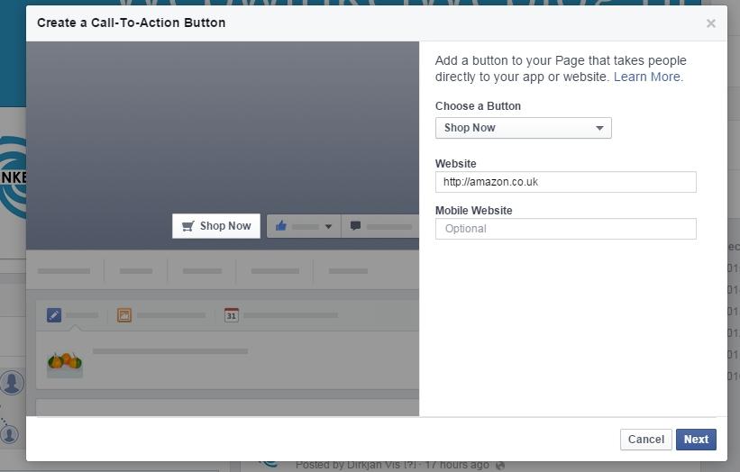 Facebook Shop Now button
