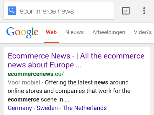 Ecommerce News for mobile users