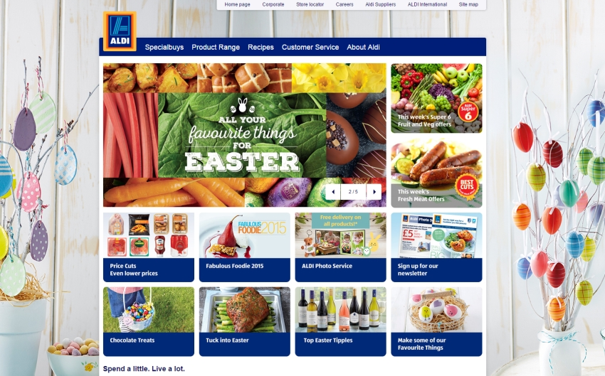 The British website of German retailer Aldi