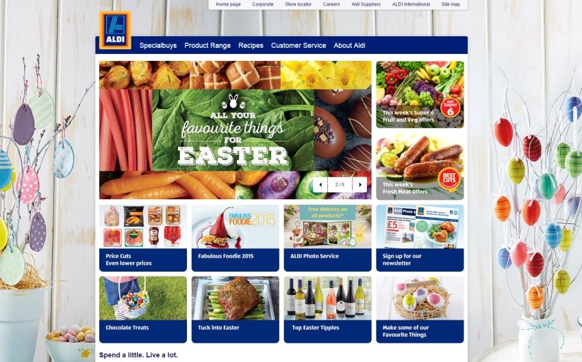 The British website of German retailer Aldi