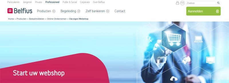 Belfius webshop