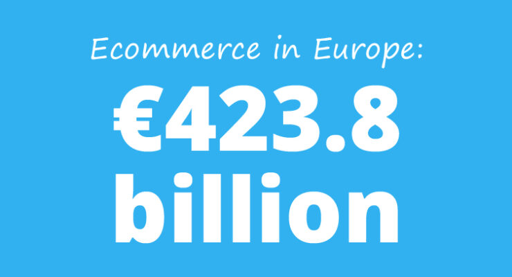 Ecommerce in Europe: €423.8 billion in 2014