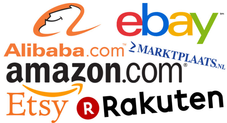 Global marketplaces (Etsy, Marktplaats, Rakuten, eBay, Amazon, Alibaba)