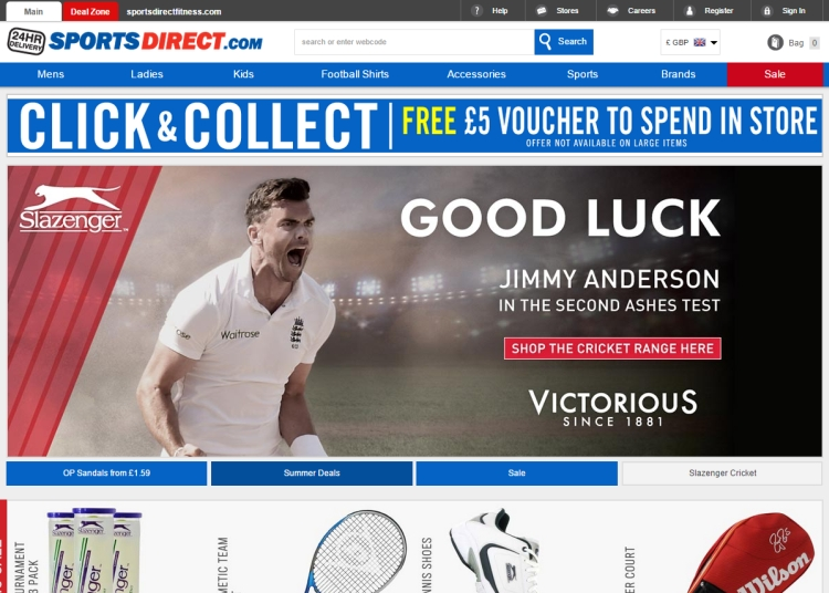 7e84f1294 Sports Direct said they have also worked hard to improve the customer  experience in Europe. The language and currency conversions options on  their sites ...