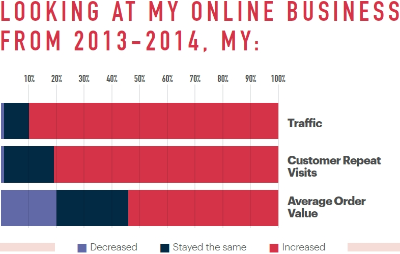 Ecommerce  in France: traffic, customer repeat visits and the average order value