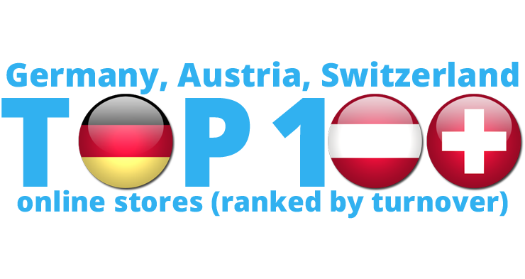 The biggest online stores in Germany, Austria and Switzerland