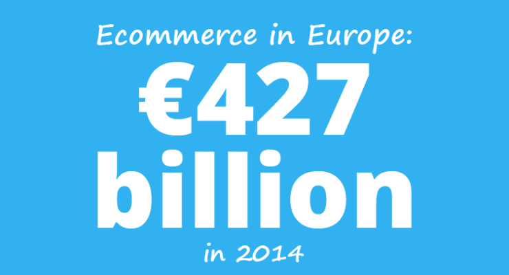 Ecommerce in Europe: €505 billion in 2014
