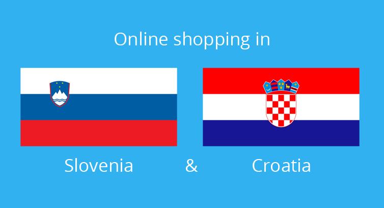 Share of ecommerce in Slovenia and Croatia compared