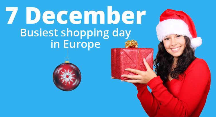 7 December is the busiest shopping day in Europe