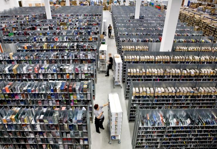 CDON's central warehouse in Borås, Sweden.