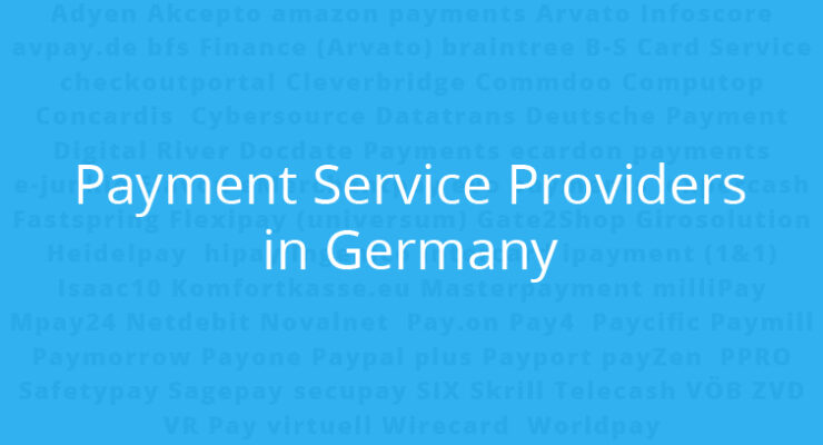 Payment service providers in Germany