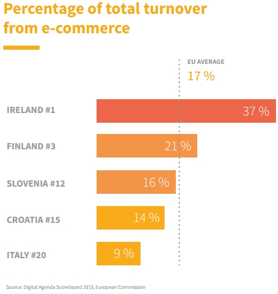 Turnover from ecommerce