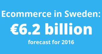 Ecommerce in Sweden to reach 6.2 billion euros in 2016