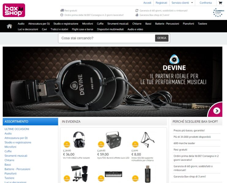 Bax Music (Bax-shop) Italia