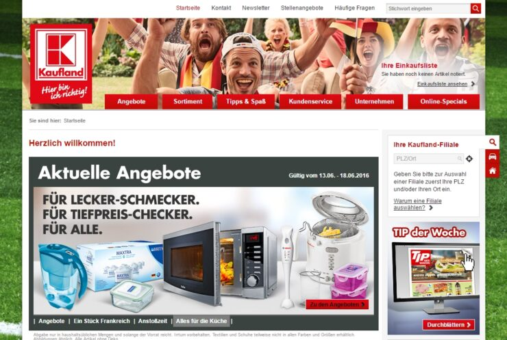 Kaufland online grocery shopping