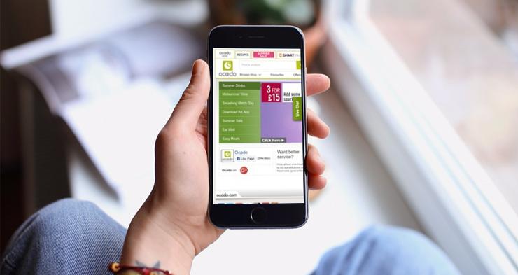 55% of Ocado's orders happened via mobile