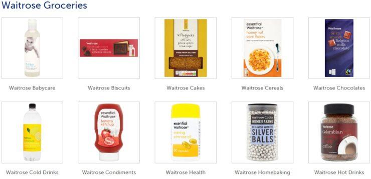 Waitrose groceries
