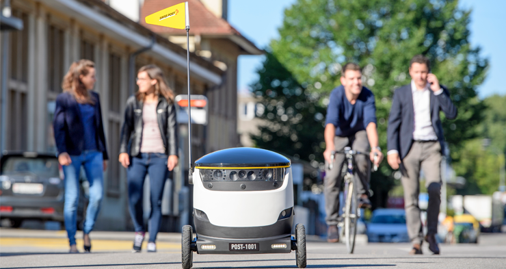 Swiss Post tests Starship's self-driving delivery robots