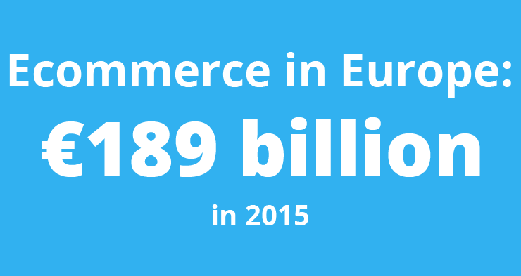 Ecommerce in Europe was worth €189 billion in 2015