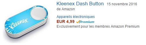 Amazon Dash button in France