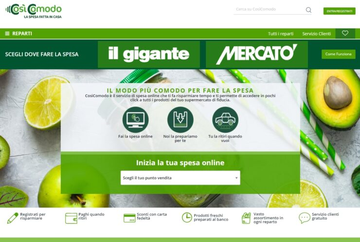 Online supermarket Cosìcomodo from distributor Selex