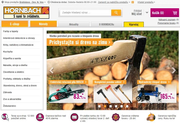 Hornbach opens online store in Slovakia