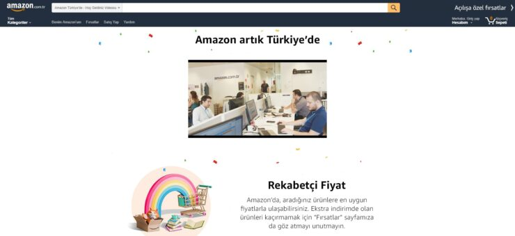 Amazon Türkiye'de (Amazon Turkey) launched.