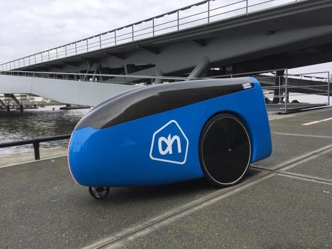 The delivery robot from Dutch supermarket Albert Heijn.