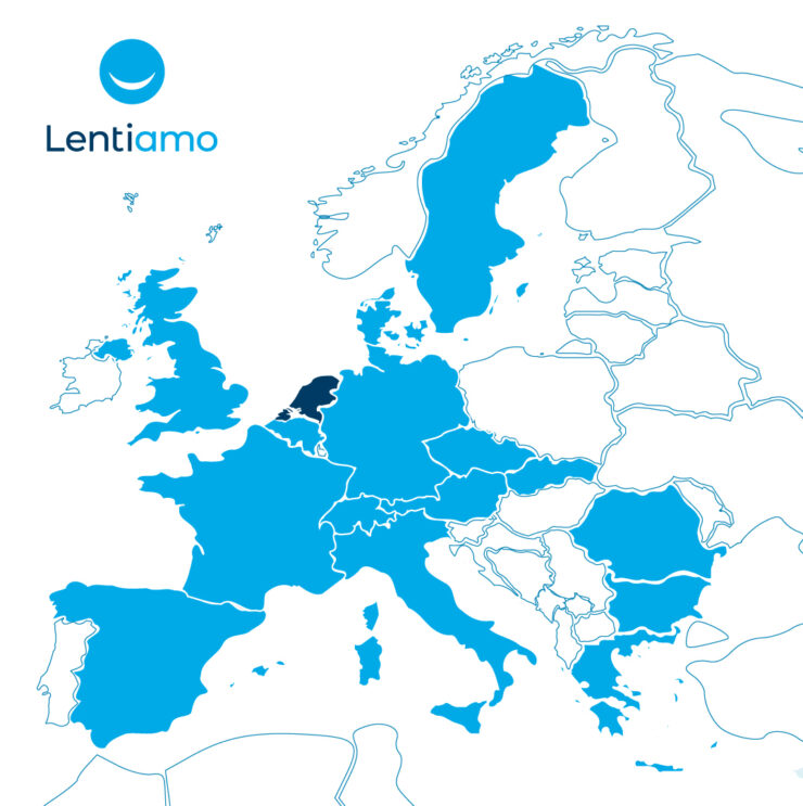 The European markets in which Lentiamo is currently active.