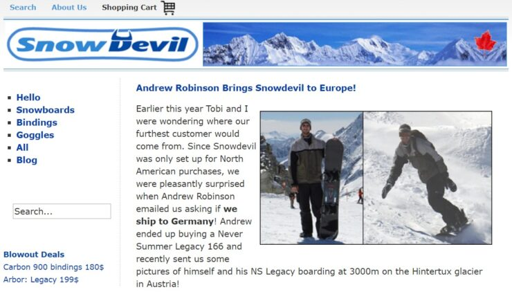 Snowdevil - The original Shopify store