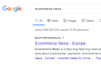 When you do a Google search for 'ecommerce news'...