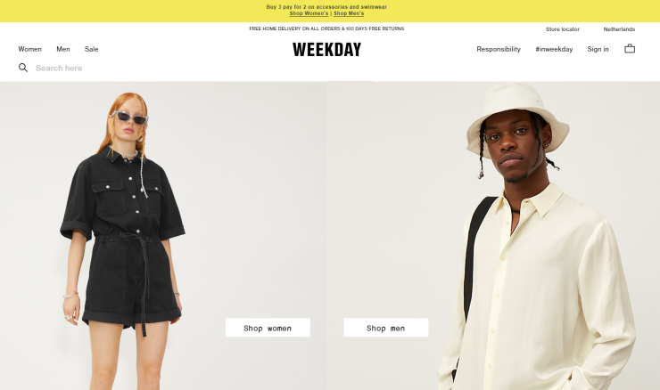 Weekday, one of the brands of H&M Group