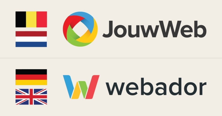 """JouwWeb"" in the Netherlands and Belgium, ""Webador"" in English and German speaking countries."