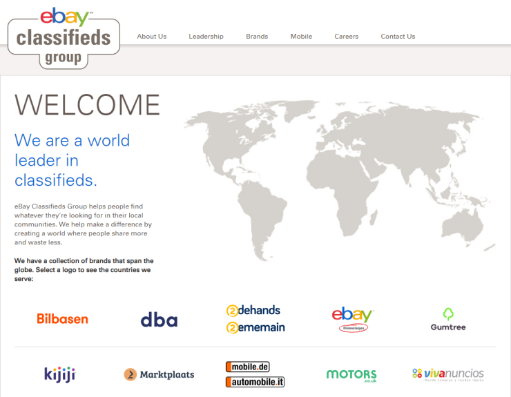 The brands of eBay Classifieds Group.